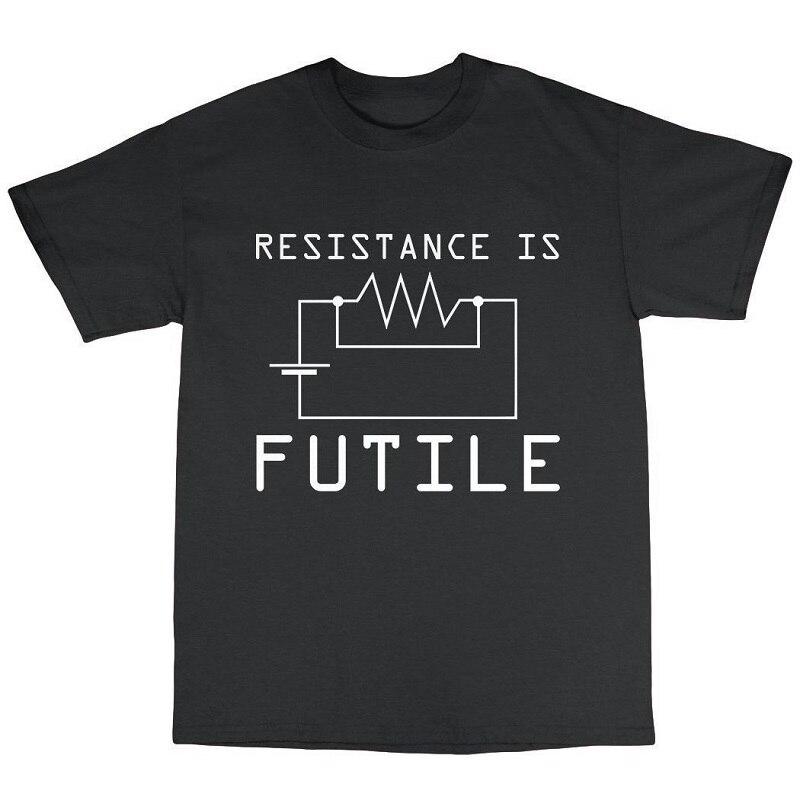 T Shirt Cheap Sale 100% Cotton Resitance Is Futile MenS Casual Short Sleeve O-Neck Tee Shirts