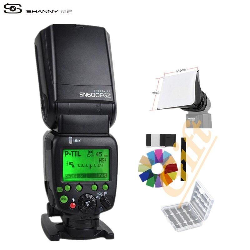 Shanny GN60 SN600FGZ P-TTL 1/8000 s Flash Esclave Sulla Fotocamera speedlite pour Pentax K100 K100D K200D K-K-x K-r K-K-K-