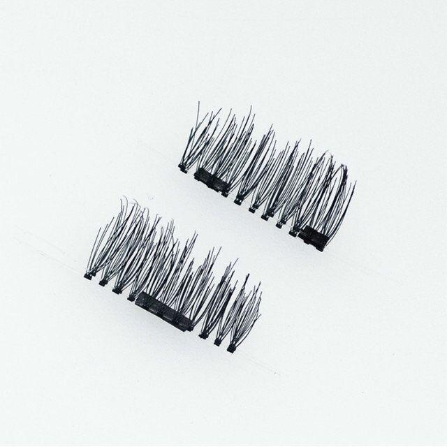 Seashine Magnetic Eyelashes 4 Pcs/1 Fake Eyelashes human hair handmade Eye Lashes make up free shipping