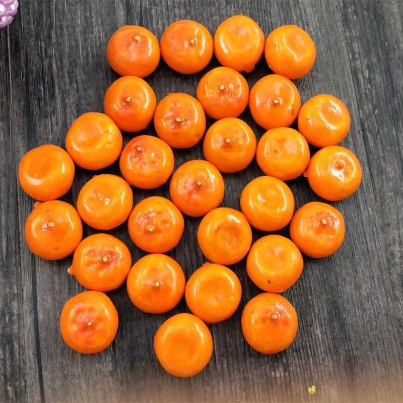 10 pcs/lot model simulasi mini buah sayuran dekoratif kolak buah buatan Simulasi jeruk Tentang 2 cm