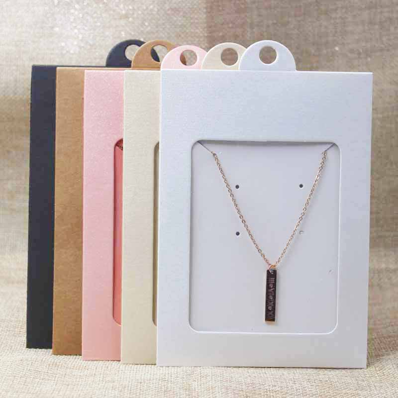 10sets Mutli Color Necklacke Pendant  Package& Display Hanger Window Box With Card Candy/gift Box Packing Window Hanger Box