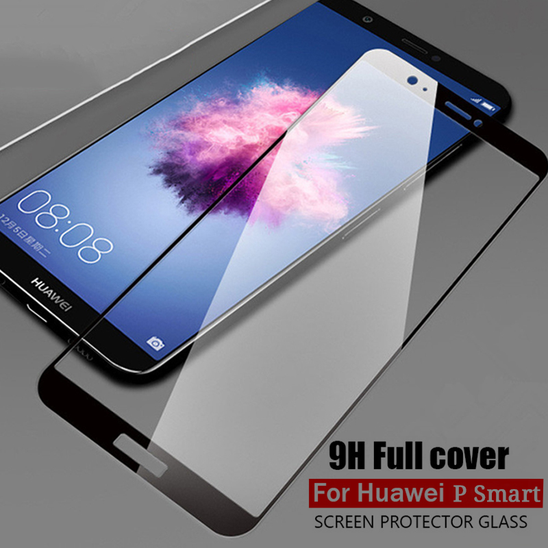 For Huawei <font><b>P</b></font> <font><b>Smart</b></font> Tempered Glass Screen Proector For Huawei PSmart huawey Enjoy 7S <font><b>5.65inch</b></font> Full Cover Protective Glass Film image