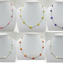 Классический идеально! Натуральный пресноводный барочный жемчуг ожерелье, много цветов, Случайно отправлено. Цена абсолютно недорого