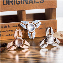 Finger Spinner Fidget Brass/Alloy EDC Hand Spinner For Autism And ADHD 7 Styles Anxiety Stress Relief Focus Toys Gift