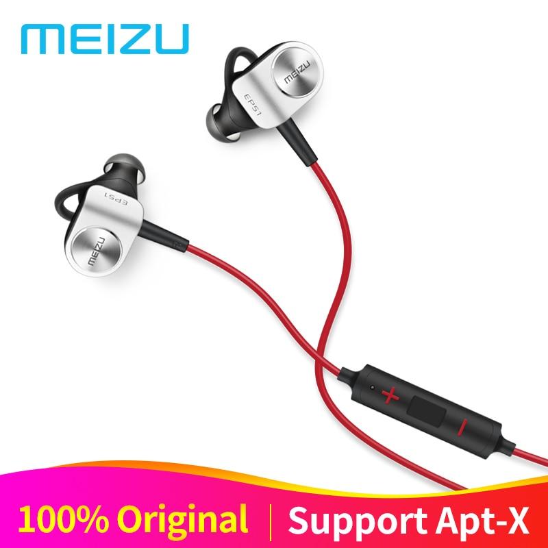 Original Meizu EP51 Wireless Earphones Bluetooth Earphone Headset In Ear Earbuds Apt X Stereo Waterproof Sports With Microphone