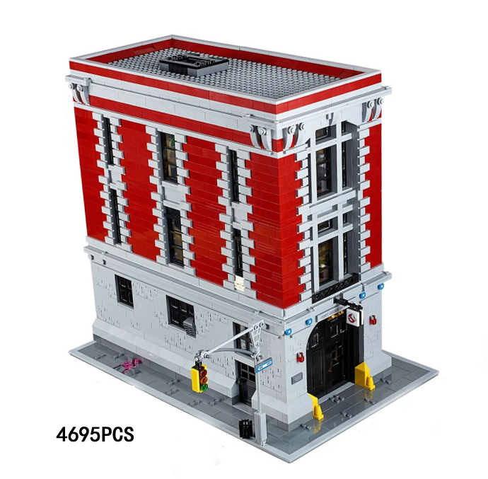 Classic movie Ghostbusters firehouse headquarters building block model ghost figures bricks 75827 toys for Adult children gifts classic movie series king castle siege review building block mini ghost archer figures dark fiery dragon lepine bricks 7094 toys