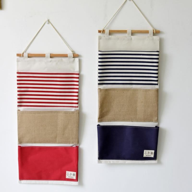 Multi Layer Letter Bag Wall Door Hanging Storage Bag