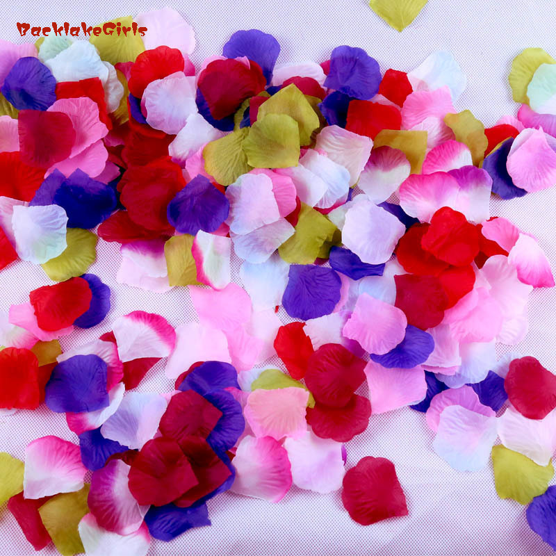 New Arrival Wholesale 1000pcs/lot Wedding Decorations Romantic Artificial Flowers Polyester Wedding Rose Petals