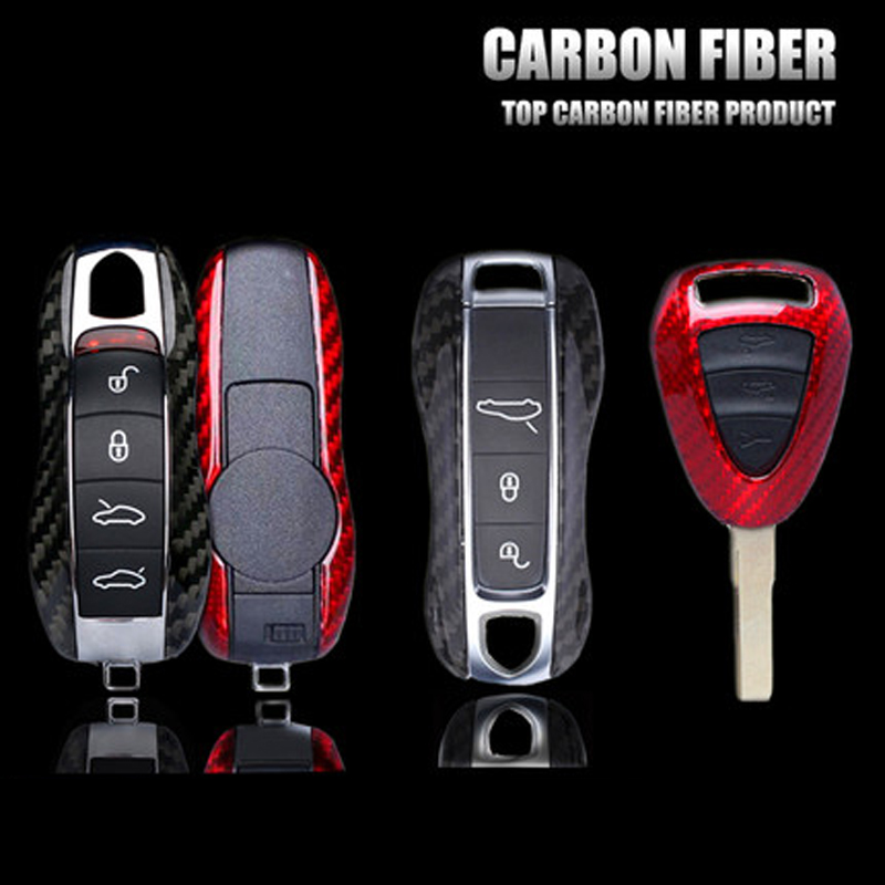 Carbon Fiber Remote Key Shell Cover For Porsche Cayenne Macan Panamera 911