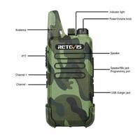 מכשיר הקשר 2pcs RETEVIS RT22 מקצועי Handy מכשיר הקשר מיני FRS VOX USB Charge UHF שני הדרך רדיו Comunicador משדר Woki טוקי (4)
