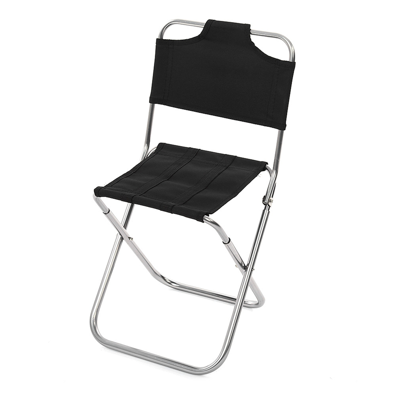 Portable High Quality Aluminum Alloy Folding Chair Fishing Seat With  Backrest Outdoor Camping Tools
