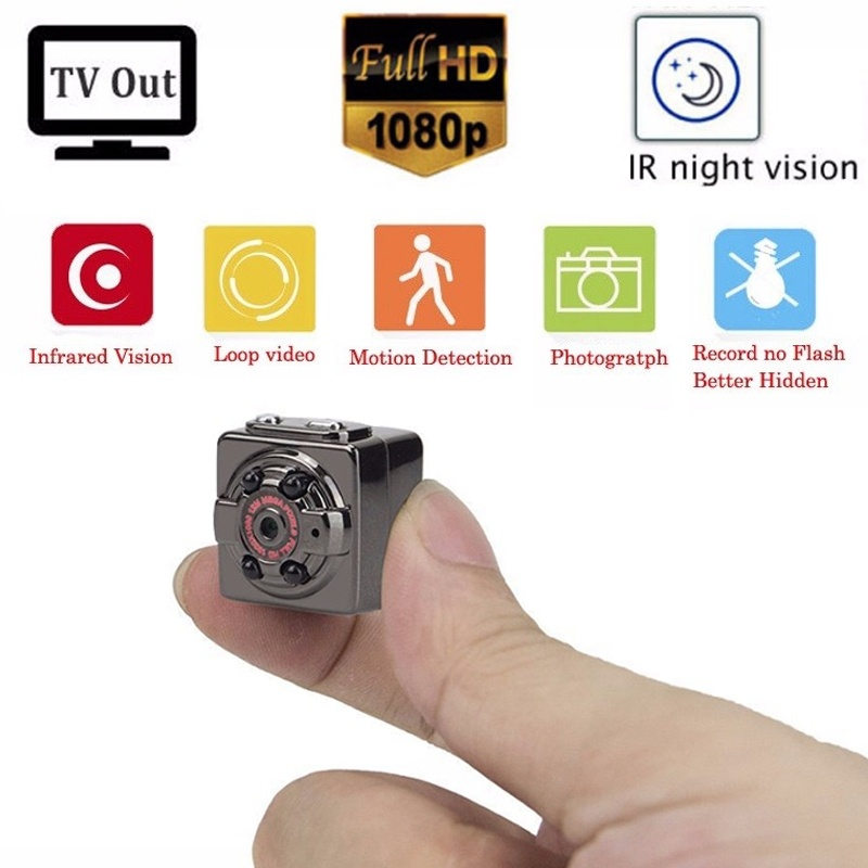 Mini Camera 1080P Sport DV Mini Infrared Night Vision Monitor Concealed Wireless Small Cameras DV Video Recorder Support TF Card
