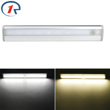 ZjRight Energy saving 10 LED Light cabinet lamp Kitchen bedroom Wardrobe toilet wall lamp study balcony indoor Stair night light(China)
