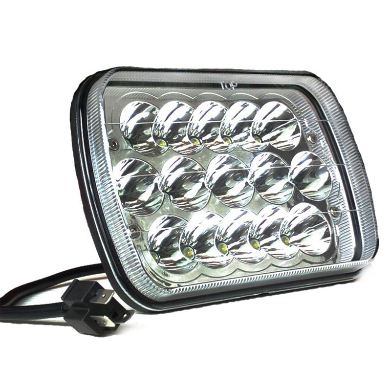 2PC 5X7 7X6 Sealed Beam LED Headlight Replacement for Jeep Cherokee XJ Trucks 1 pair 5x7 7x6 inch rectangular sealed beam led headlight for jeep cherokee h6014 h6052 h6054 h6052 led headlight