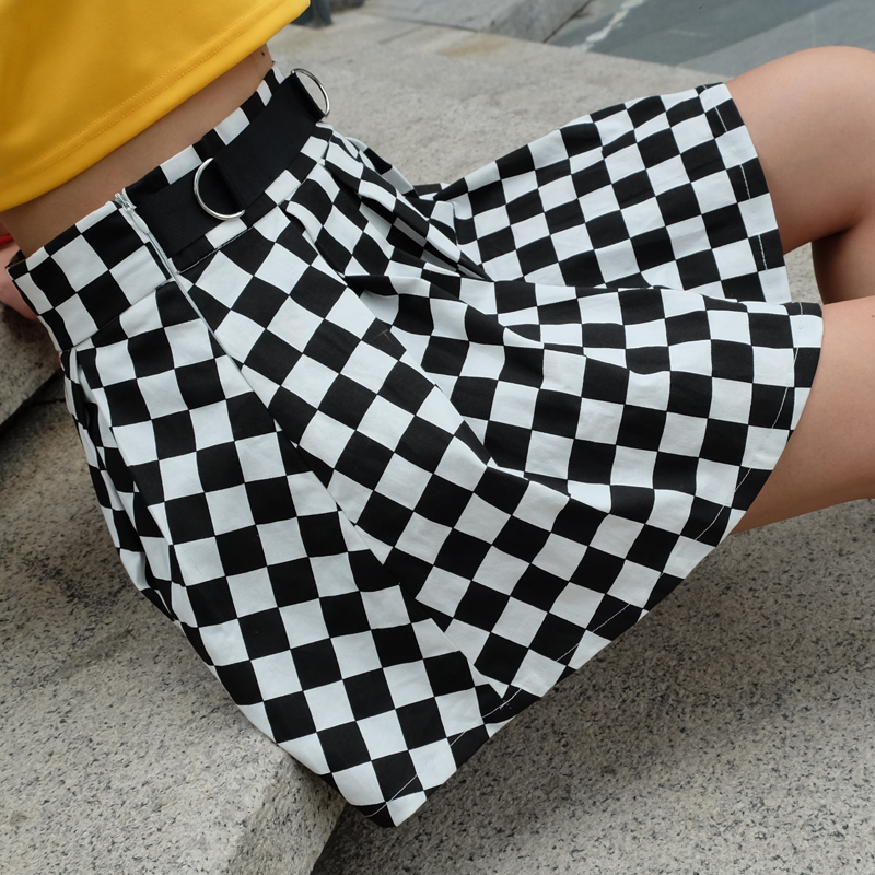 Disweet Pleated Plaid Skirts Womens High Waisted Checkered Skirt Harajuku Dancing Korean Style Sweat Short Mini Skirts Female 8
