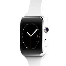 Új Bluetooth intelligens óra X6 Smartwatch Fitness Tracker szinkron üzenet iPhone Androidhoz Kamera támogatás SIM kártya TF