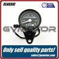 Vintage Classic Black LED CAFE RACER 0-140 KM/H universal digital speedometer Motorcycle Odometer Speed meter Free Shipping