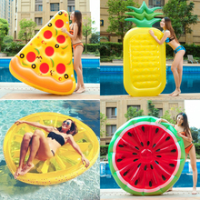 Giant Swan Watermelon Floats Pineapple Flamingo Swimming Ring Unicorn Inflatable Pool Float For Child&Adult Water Toys Party
