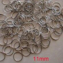 1000 шт./лот 11 мм позолоченные/хромированные стальные круглые кольца, бусины аксессуары для занавесок подвесные Подвески Металлические соединители