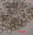 1000 шт./лот  11 мм позолоченные/хромированные стальные круглые кольца  бусины аксессуары для занавесок  подвесных подвесок  металлические кон...
