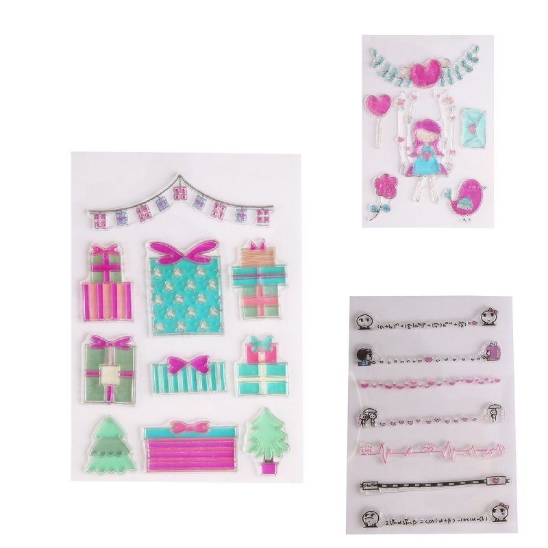 Clear Stamp Cute Transparent Stamp Silicone Stamp Scrapbook DIY Photo Album Diary Cards Account Decoration 16 x 11 cm wyf1017 scrapbook diy photo album cards transparent silicone rubber clear stamp 11x16cm camera