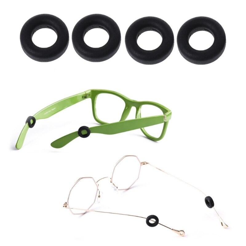 1 пара круглые силиконовые Нескользящие очки Ушные крючки очки держатель зрелище храм наконечник anit-вируса-slip ушной держатель для очков ...