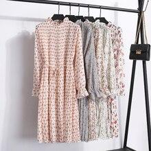 Two layers chiffon pleated dress
