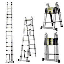 Складная алюминиевая телескопическая лестница 25 м +
