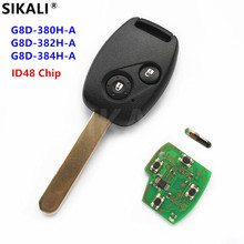 SIKALI Remote Key Suit for Honda for Accord Element CR-V HR-V Fit City Jazz Odyssey Shuttle Civic with ID48 Chip Uncut Blade