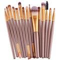 Nuevo Profesional 15 UNIDS Cepillos Del Maquillaje Herramientas maquillaje Kit del artículo de Tocador de Maquillaje Cepillo Conjunto Caso Cosmético Fundación cepillo