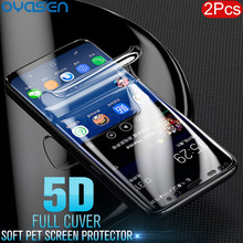 2Pcs/lot 5D Screen Protector For Samsung Galaxy S10 S9 S8 Lite Plus Note 8 9 Full Cuverd PET Soft Protecive Case Film(Not Glass)