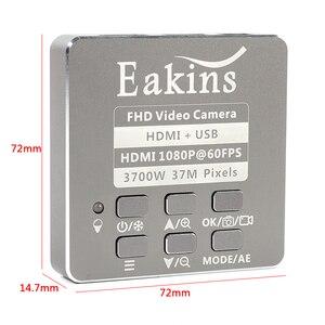 Image 2 - Microscope et caméra enregistreur vidéo, 37mp 1080P HDMI USB, lentille 180X 300X c mount pour le soudage de PCB