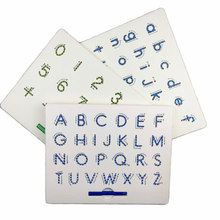Magnetic Tablet Drawing Board Pad Toy Bead Magnet Stylus Pen 26 Alphabet Numbers Writing Memo Board Learning Educational Kid Toy(China)
