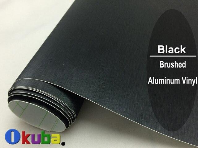 Aliexpress Com Buy Black Brushed Aluminum Vinyl Wrap Car