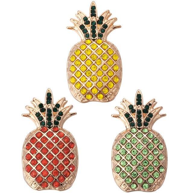 5 sztuk/partia gorąca sprzedaż nowy kryształ 18 przyciski zatrzaskowe mm duży złoty ananas Snap biżuteria dla srebrny Snap bransoletka zatrzaski biżuteria
