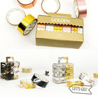2/8rolls/Pack luxury Gift Box Washi Tape Decoe Masking Tape Golden tapes gift wrapping Tapes Sticker Label