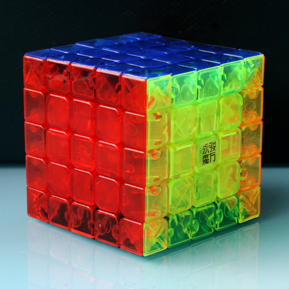 High Quality Yj's 5 Layers Lucid Pellucid Hyaline Magic Cubes 5*5*5 On 5x5x5 Speed For Children Stickerless Cubo Megico