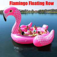 6 8person Huge Flamingo Pool Float Giant Inflatable Unicorn Swimming Pool Island For Pool Party Floating Boat