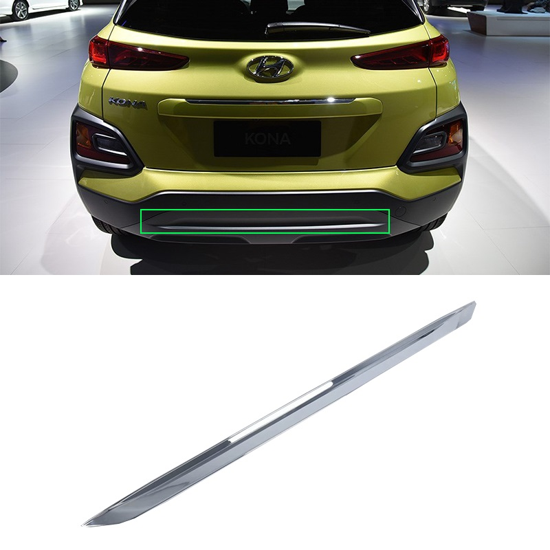 Car Styling ABS Chrome Exterior auto accessories rear bar trims For HYUNDAI KONA ENCINO 2018 in Interior Mouldings from Automobiles Motorcycles