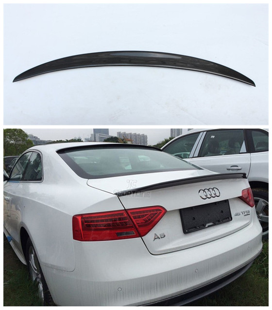 Auto Carbon Fiber Spoiler For Audi A5 S5 Coupe 2 Door 2009 2017 High Quality Wing Spoilers Car Accessories