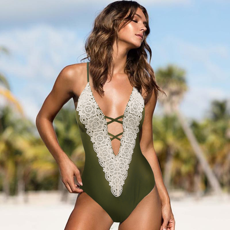 Sexy Bikinis Women Swimwear Push Up Swimsuit One Piece Bodysuit Strap Monokini Bathing Suit Swim Wear Beach Female Beachwear New floral two piece swimsuit women swimwear green leaf bodysuit beach bathing suit swim swimsuit push up monokini bathing wear 2017 page 2