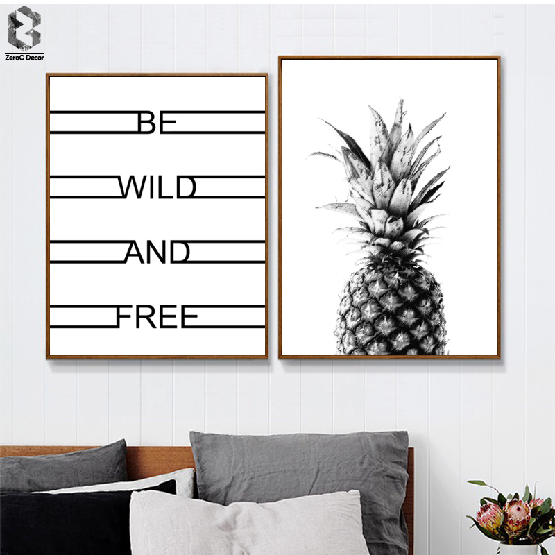 ZeroC Posters And Prints Wall Art Canvas Painting Pictures For Living Room Nordic Decoration Pineapple