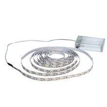 цена на 1M 2M 3M 4M 5M Flexible Lighting LED Strip 3AA Battery Power Led Strip Light SMD 2835 Ribbon Tape White/Warm White Strip