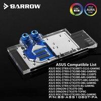 รถเข็นอัสซุสROGทริคซ์GTX 1080TI/1080/1070/1060 GPUบล็อกน้ำเต็มครอบคลุมBS-ASS1080T-PA