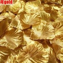 500 шт./лот, Декоративные искусственные шелковые лепестки роз, свадебные украшения, серебряные и золотые цвета на выбор
