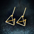 JEWEAST 2017 Fashion & Charm Design 18K Gold Jewelry Women Earrings Triangle Shaped Stud Earrings  Best Wedding Anniversary Gift