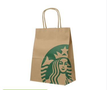 Wholesale Cheap Custom Printed Grocery Shopping Craft White Kraft Paper Bags With Paper Twisted Handles