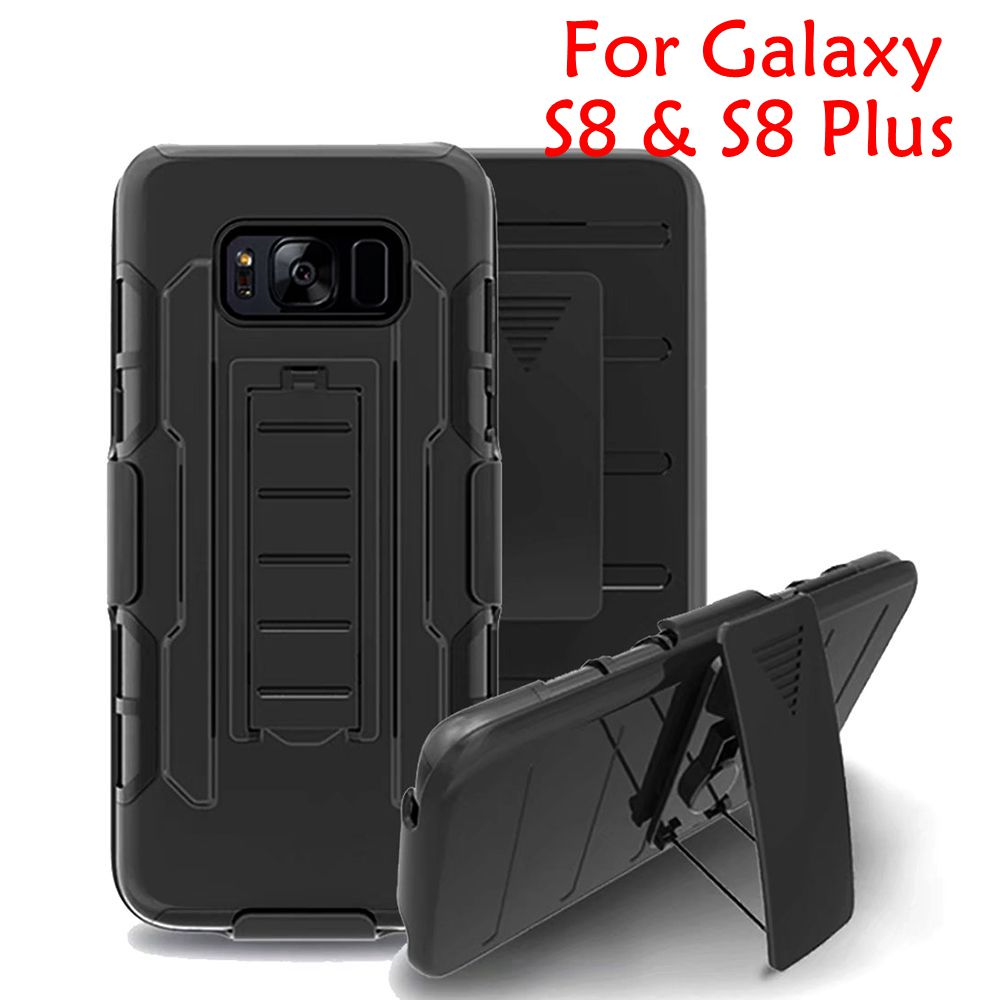 Military Hybrid Cover For Samsung Galaxy S8 Case Black ...