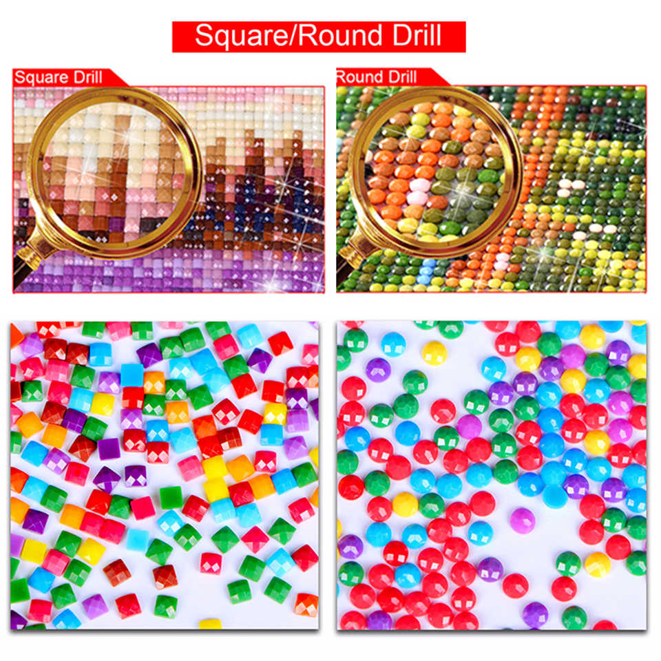 5D DIY Diamond Lukisan Nude Patung Batu Horor Foto Persegi Berlian Resin Bordir Cross Stitch Set Mosaik Buatan Tangan