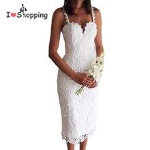 Summer Style White Black Lace Dress V Cami Bodycon Sexy cheap clothes china vestidos de festa mujer Casual office Midi Dresses